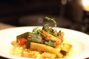 Zucchini Sauté on ThymeCouscous